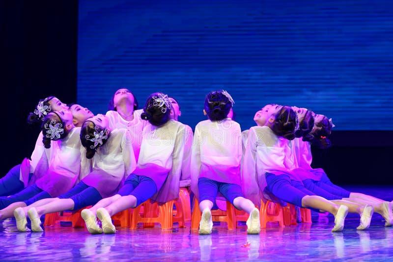 Blue lotus- Beijing Dance Academy grading test outstanding children`s dance teaching achievement exhibition Jiangxi. Sponsored by the Beijing Dance Academy stock images