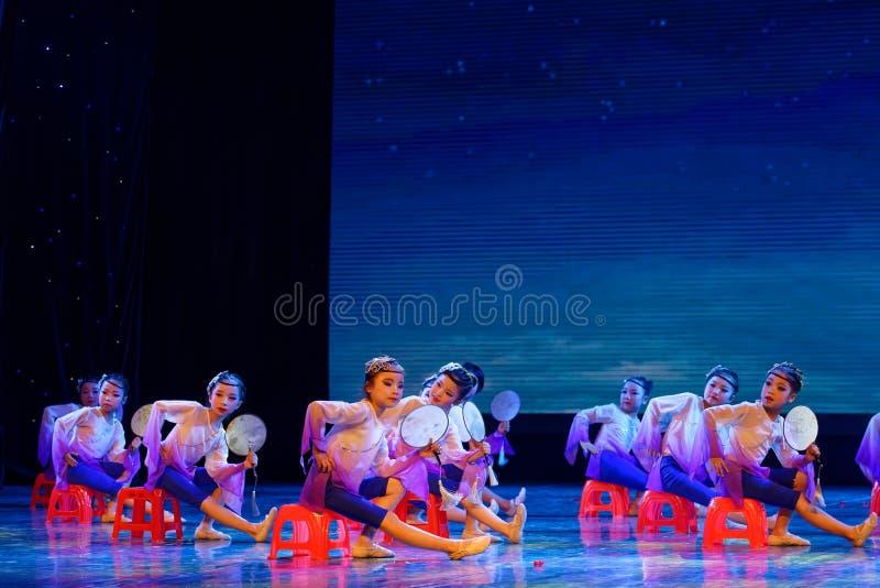 Blue lotus- Beijing Dance Academy grading test outstanding children`s dance teaching achievement exhibition Jiangxi. Sponsored by the Beijing Dance Academy royalty free stock image