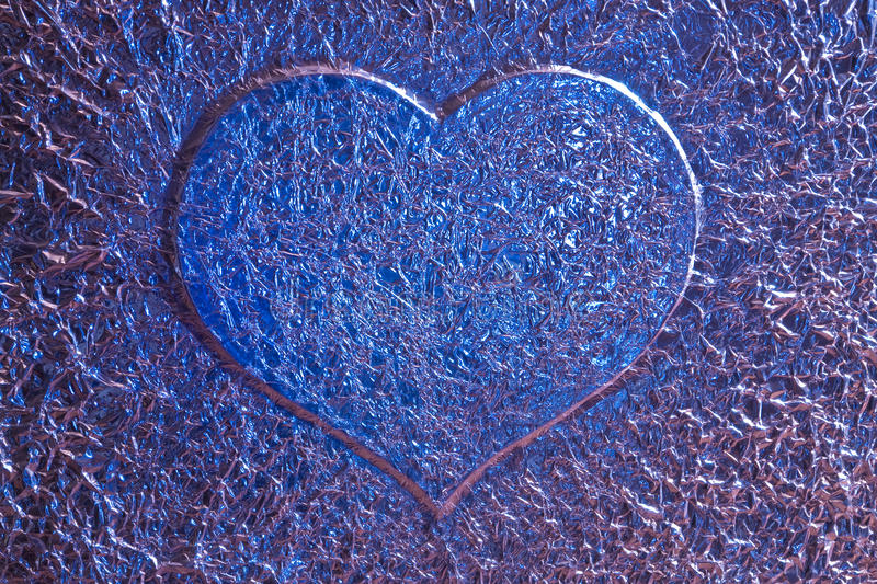 Download Blue love heart background stock photo. Image of shining - 11599102
