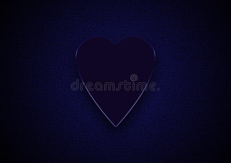 Blue love heart on textured background royalty free stock images