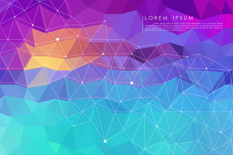 Blue low poly abstract background stock illustration