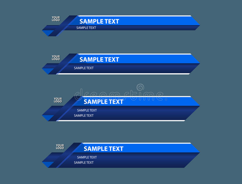 Blue lower third banners royalty free stock image