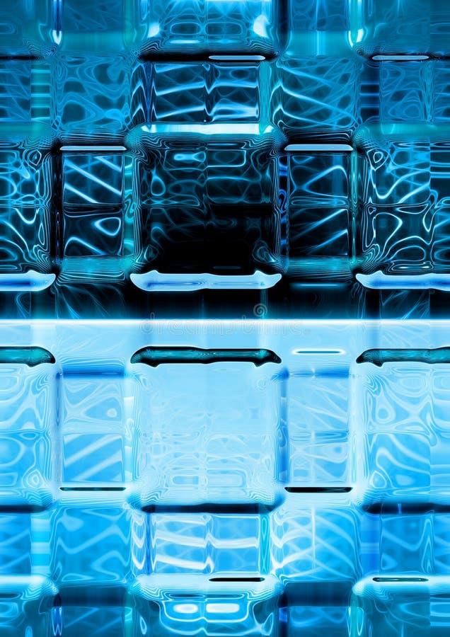 Download Blue luminescence glass stock illustration. Image of pattern - 7686365