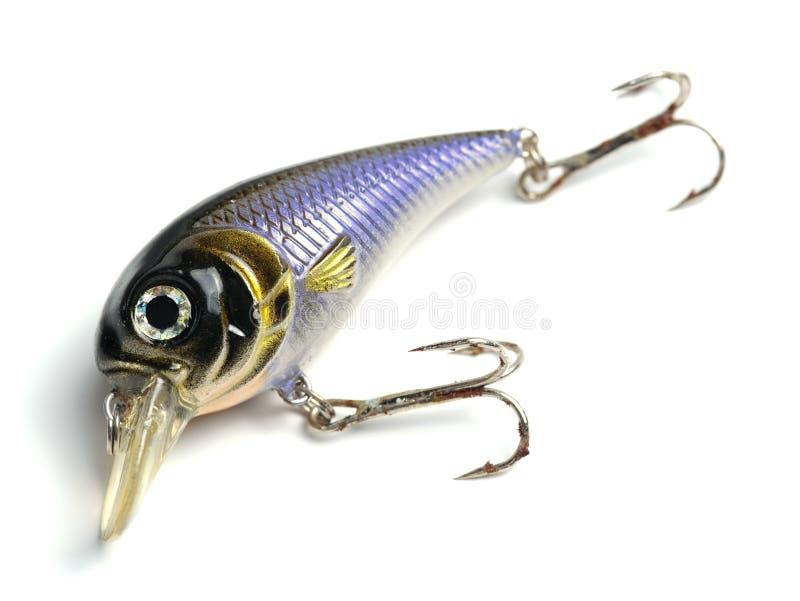 Blue lure bait. Blue lure fishing bait isolated on white background stock photography