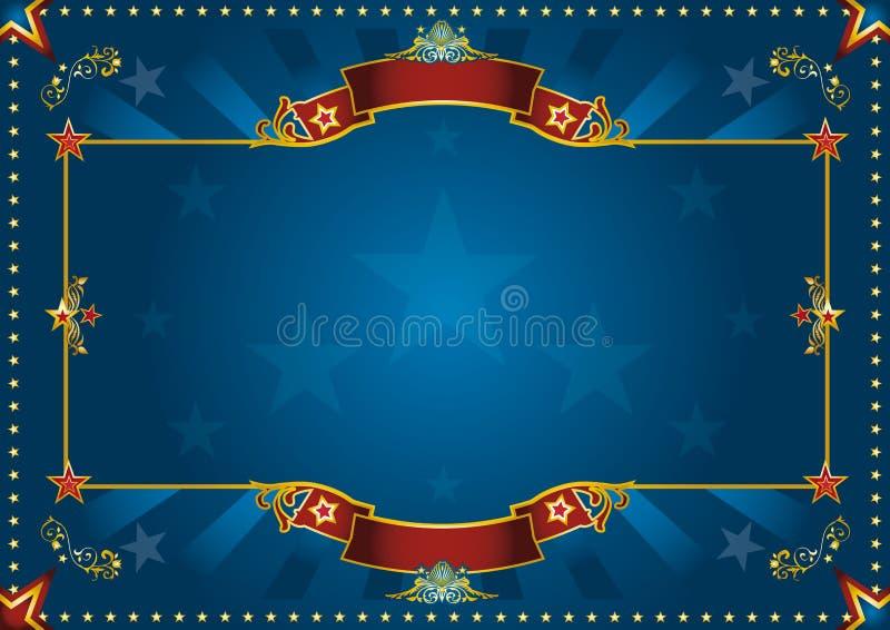 Blue luxury horizontal background stock images