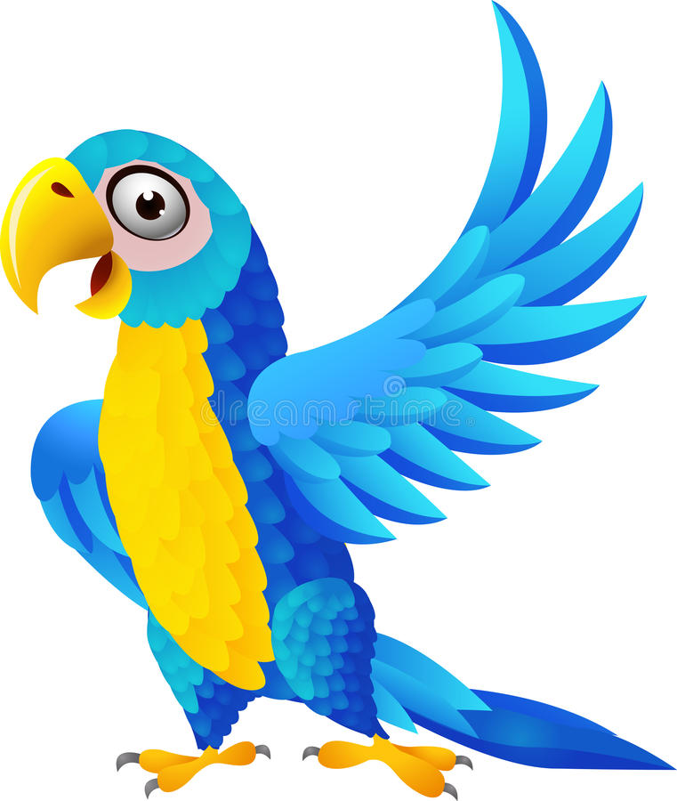 Download Blue macaw cartoon stock vector. Image of africa, icon - 25902540