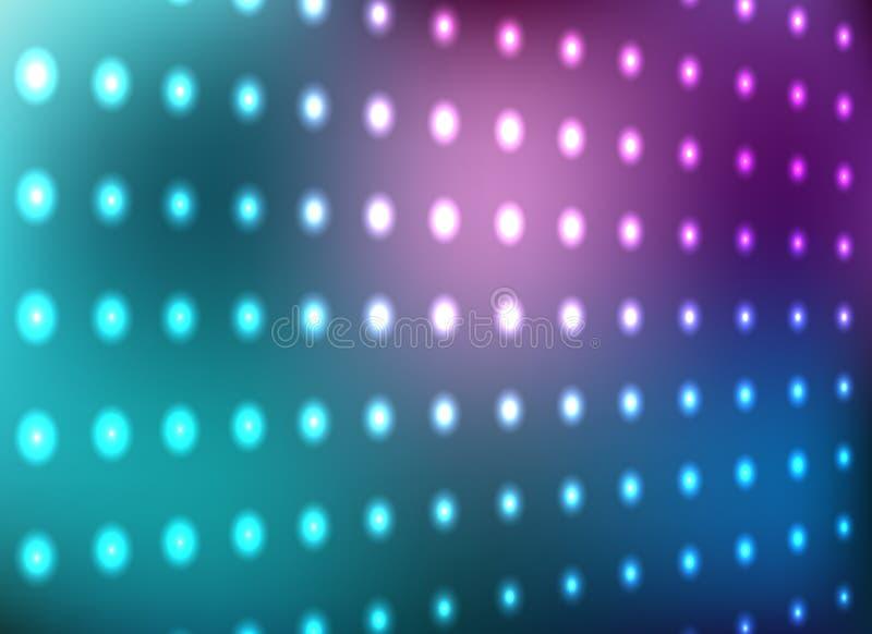 Blue and magenta light wall vector illustration