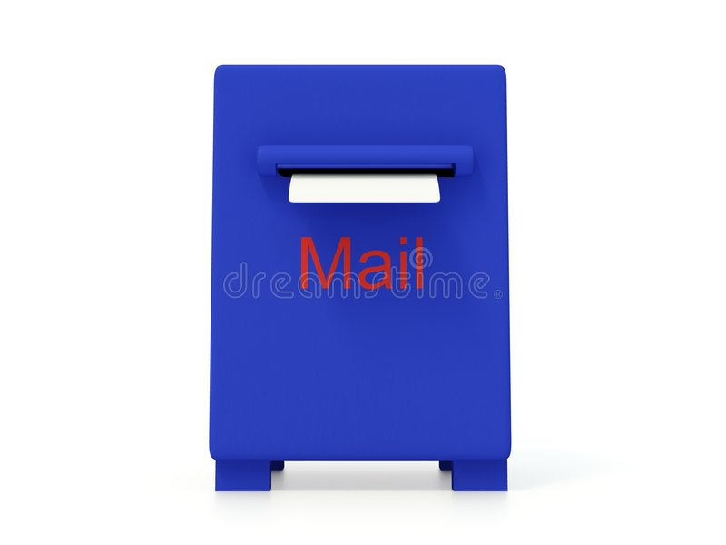 Blue mail box royalty free illustration