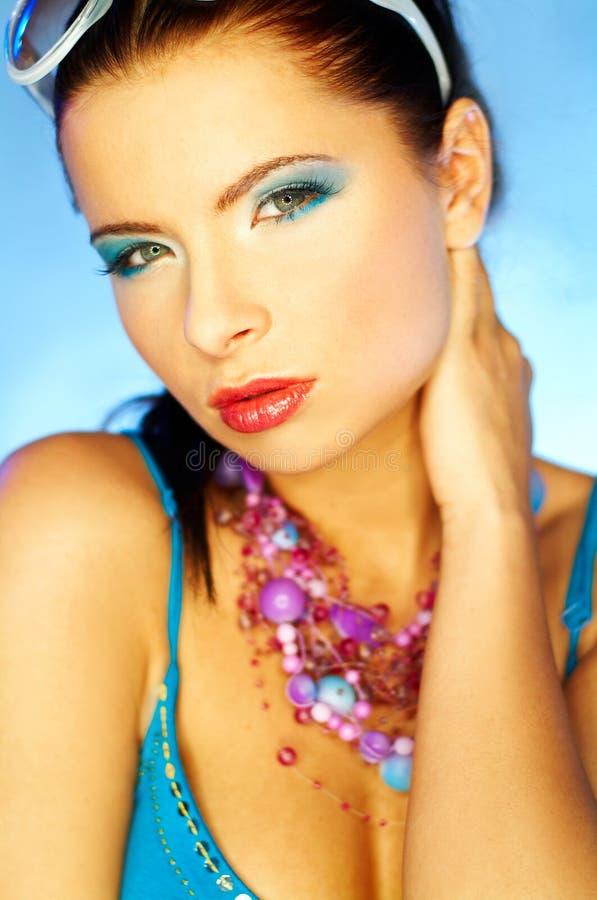 Blue Makeup Royalty Free Stock Photos