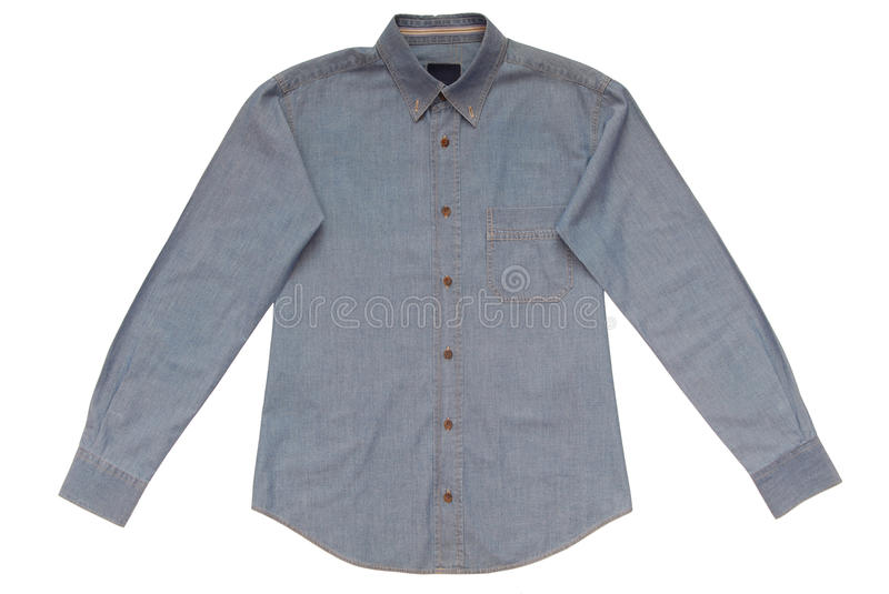 Blue male shirt royalty free stock photo