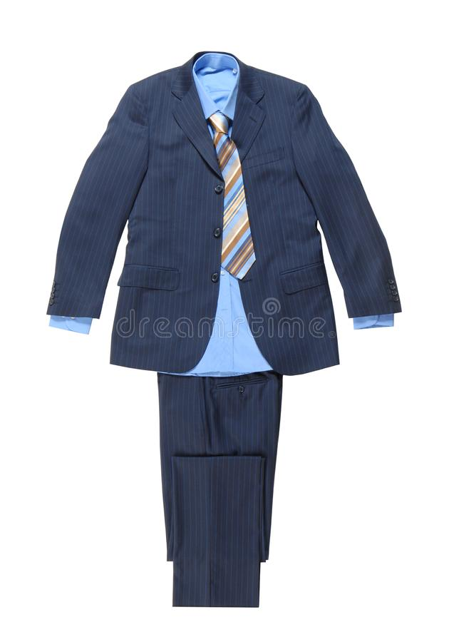 Blue male striped suit royalty free stock images