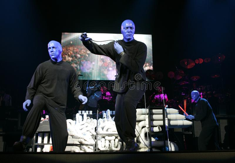 Blue Man Group performs editorial stock image  Image of blue