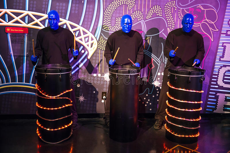Blue Man Group stock images