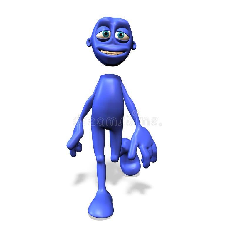 Download Blue man No. 1 stock illustration. Image of martian, funny - 2312372
