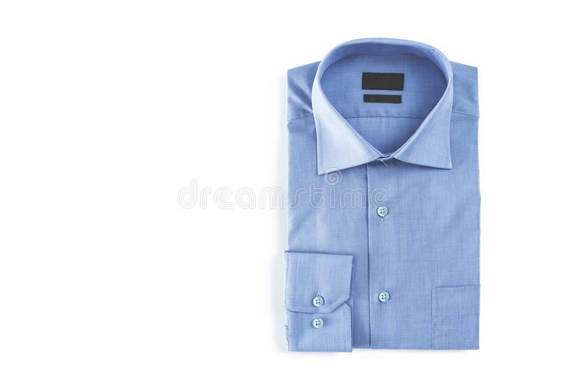 Blue man shirt on white background royalty free stock photos