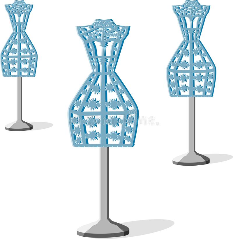 Blue mannequin stock illustration
