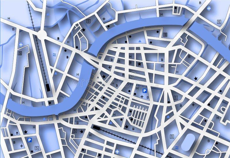 Blue map stock illustration