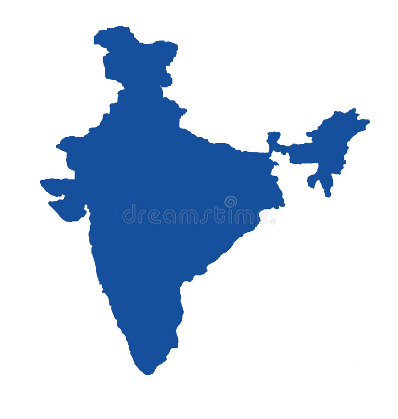 Blue Map Of India Royalty Free Stock Images