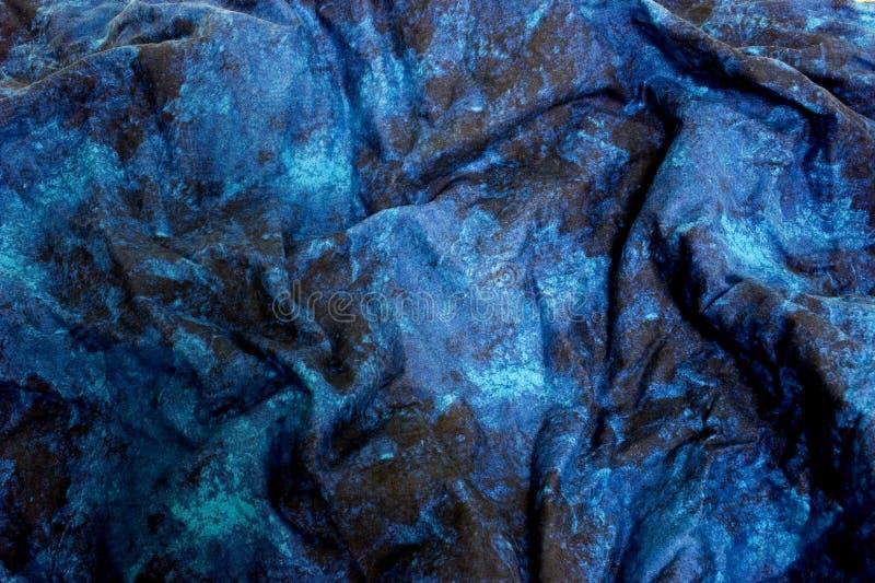 Blue marble fabric stock photos