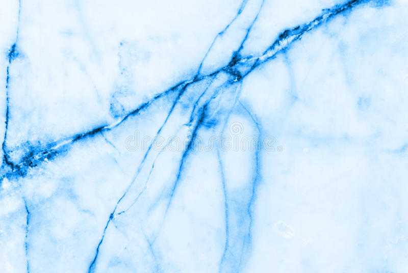 Blue And White Marble : Blue marble pattern abstract background stock photo