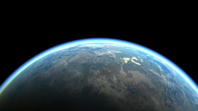 The Blue Marble - Planet earth, the planet of Life. Illustration. royalty free illustration