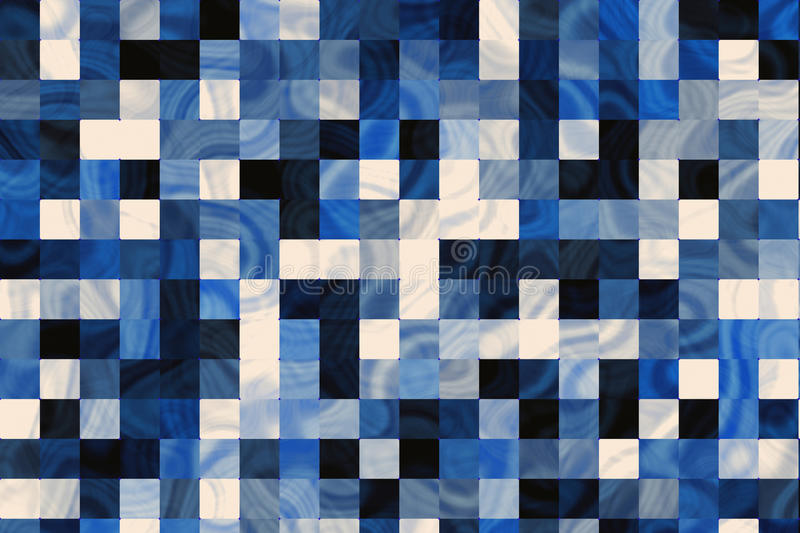 Blue marble tiles. Background in different tones royalty free illustration