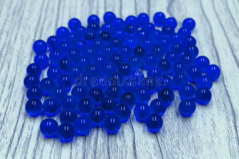 Blue Marbles Gradient Row natural sphere black, royalty free stock images