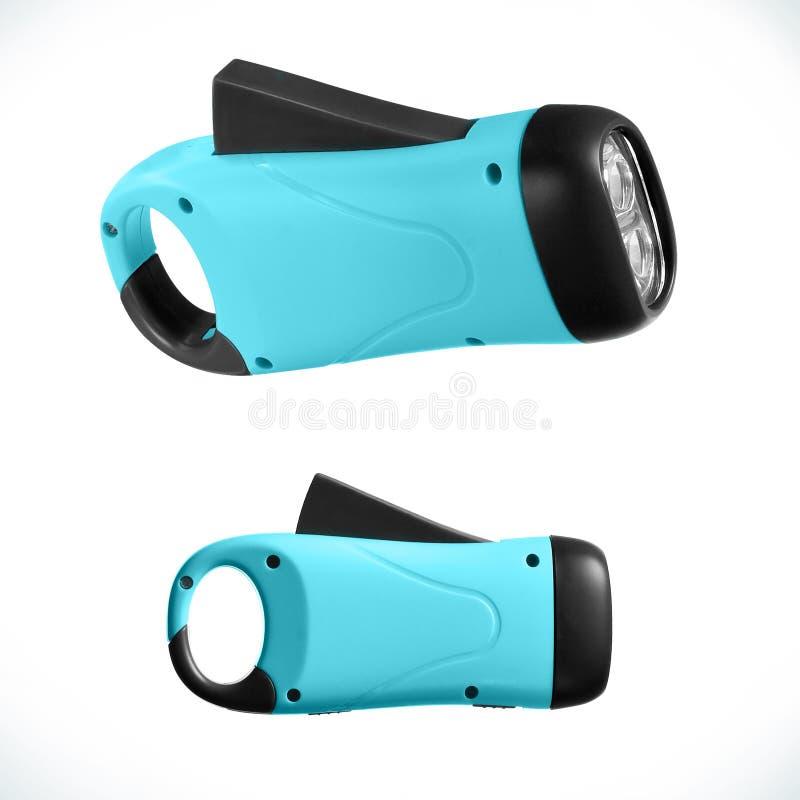 Blue (marine) dynamo LED torch royalty free stock photo