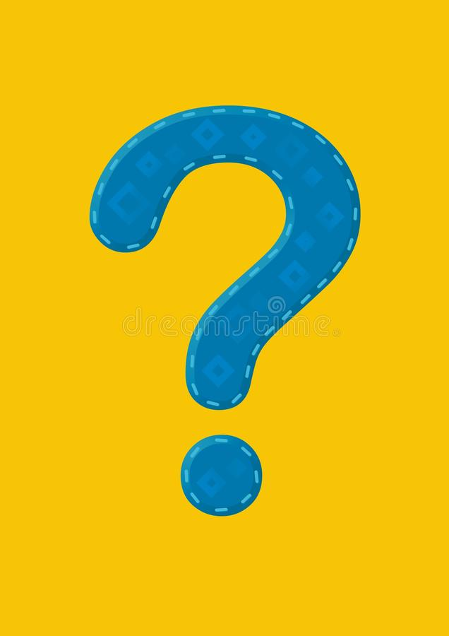 blue mark question διανυσματική απεικόνιση