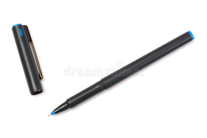 Blue marker pen stock photo
