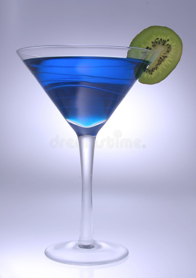 Blue martini 2 stock photo