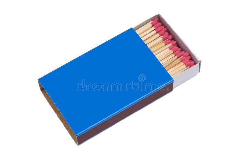 Blue Matchbox. Isolated on White Background royalty free stock photo