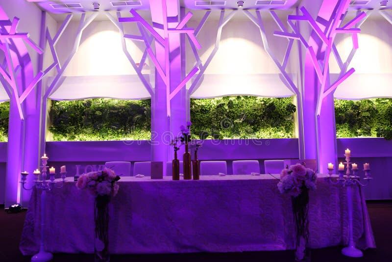Blue mauve ballroom royalty free stock photo