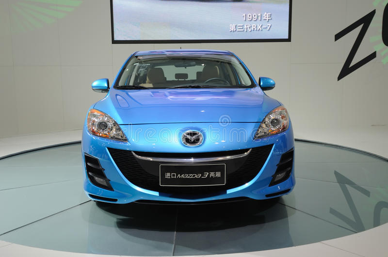 Download Blue mazda 3 editorial photo. Image of brand, background - 17678666