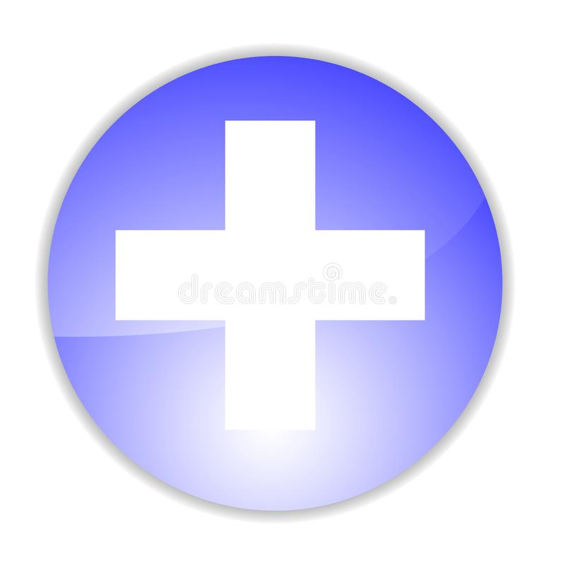 Blue medical chart stock image