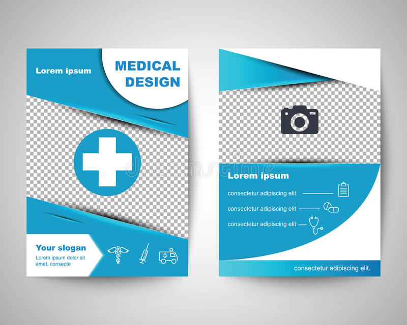 download blue medical flyer layout template stock vector illustration of layout infographic 81816663