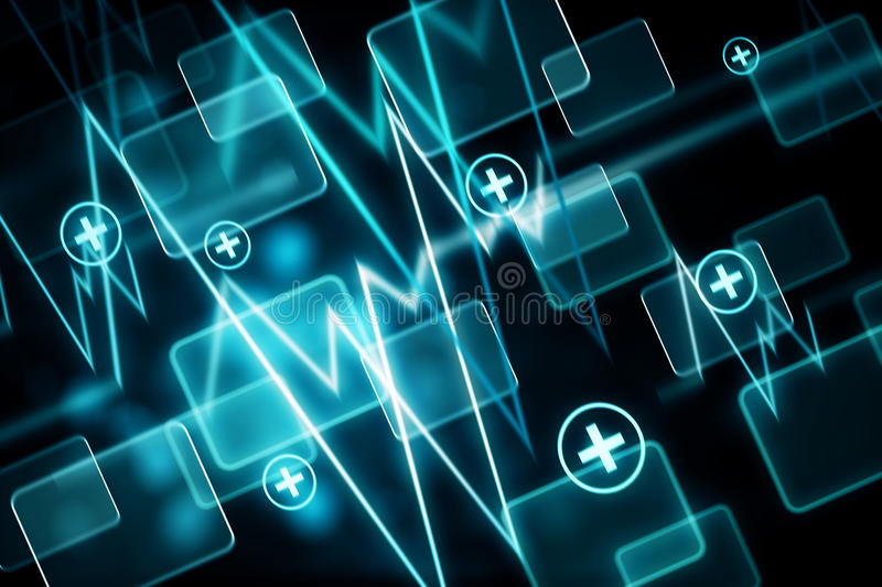 Blue medical wallpaper stock illustration