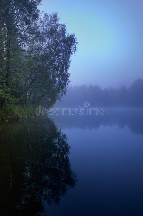 Blue melancholy nature royalty free stock photo