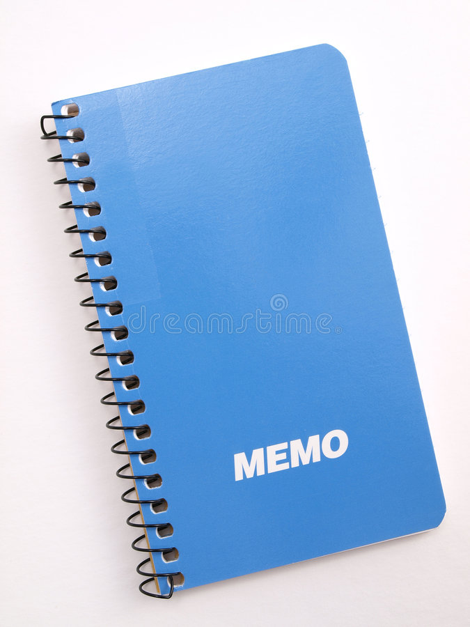 Download Blue Memo note book 2 stock photo. Image of business, empty - 4022302