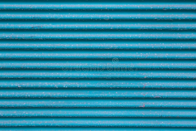 Blue metal Corrugated board texture turquoise color background stock photo