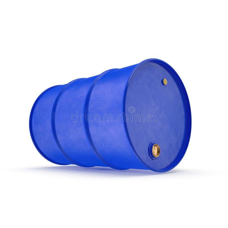 Blue Metal Oil Drum Isolated on White. 3D illustration vector illustration