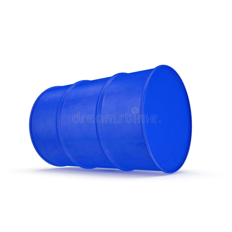 Blue Metal Oil Drum Isolated on White. 3D illustration. Blue Metal Oil Drum Isolated on White Background. 3D illustration vector illustration