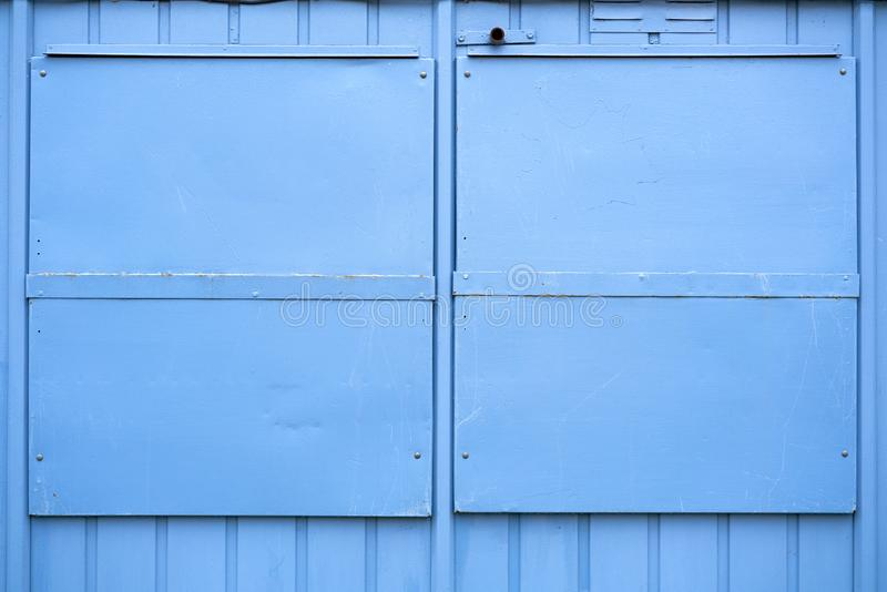 blue metal shutters royalty free stock photos