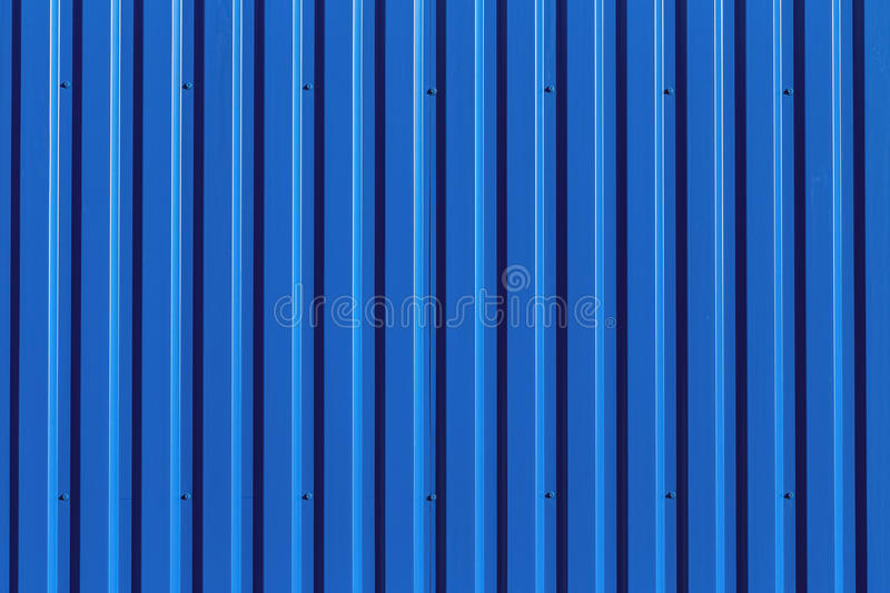 Blue Metal Siding Wall Texture Stock Image Image Of