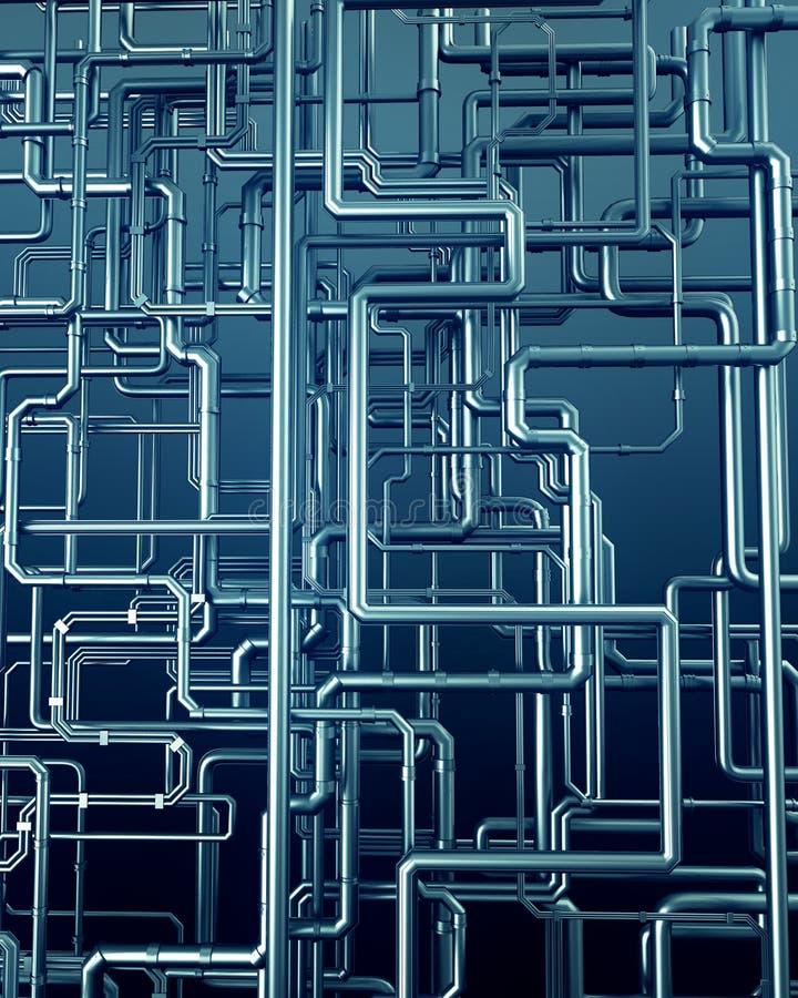 Blue metal steel pipe background vector illustration
