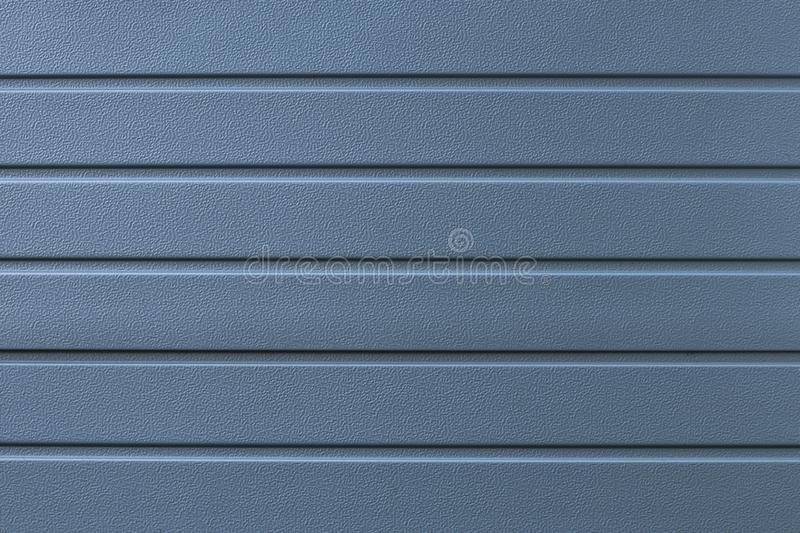 Blue metal texture background. Gray abstract lines pattern. Steel wall striped surface. Silver board, iron. Shiny grey element of royalty free stock image
