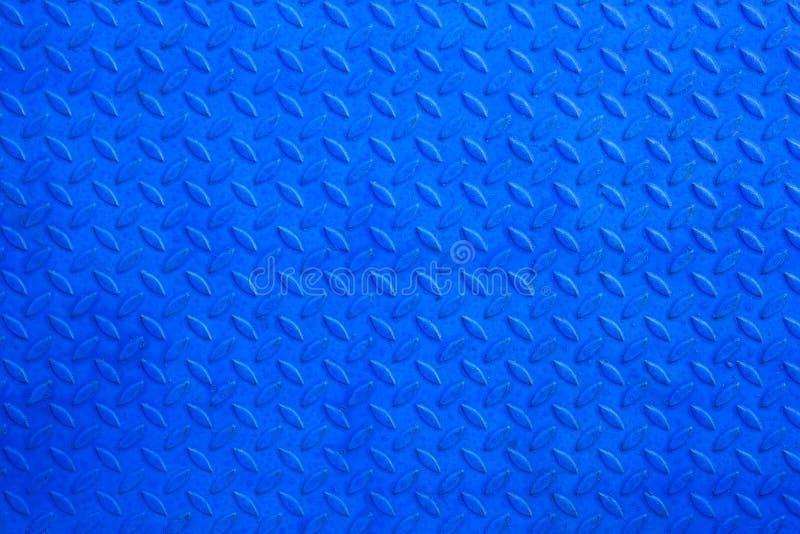 Blue metal texture stock image