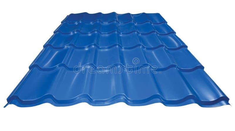 Blue metal tile