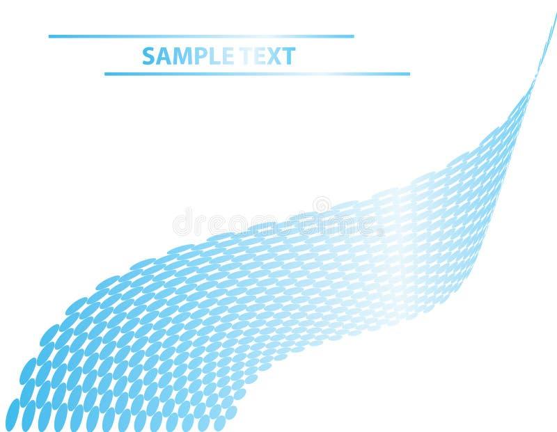 Blue metallic dots wave