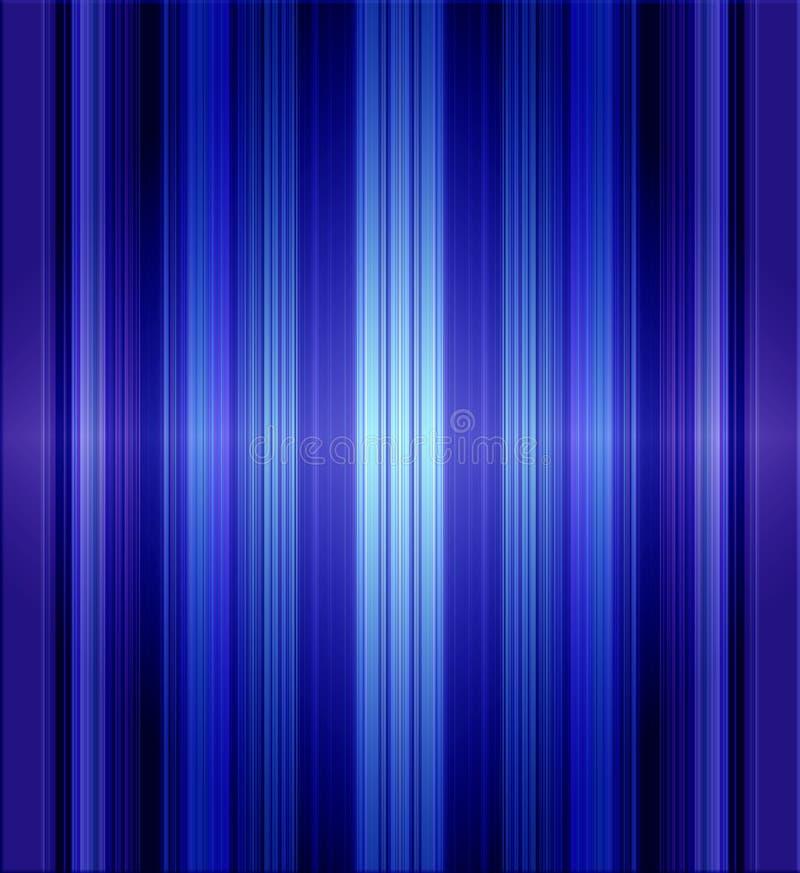 Blue Metallic Stripes. Background design of metallic stripes in blue tones royalty free illustration